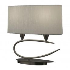 настолна лампа 3703 SATIN+WHITE SHADE 2x20W E27 (No inc.)