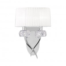 4634 Wall Lamp 2L Chrome/White Shade 2x13W E14