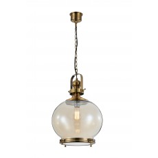 4974 Round Lamp 1L MEDIUM 1xE27 60W Antique Brass