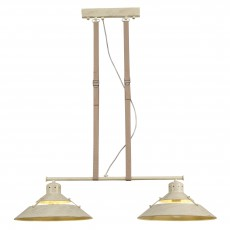 ^5433 DOUBLE LAMP 2L Line Sand 2xE27 40W (No Inc)