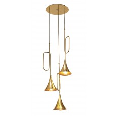 5896 PENDANT 3L  GOLD 3xE27 20W (No Inc)