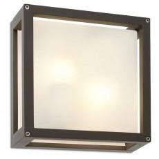 аплик, външна лампа 9892 BRICK AP/PL 2X42W E27 IP54 DG square