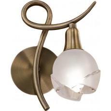 @1225 antique brass 1x9W E14