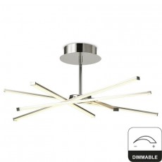 5918 Ceiling LED 42W/3000K Dimm STAR Chrom/Silver