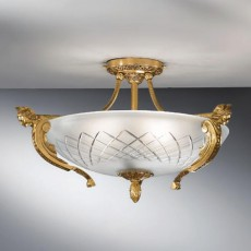 521/5PL-04 French Gold  ceiling lamp cut glass