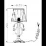 настолна лампа ARM172-01-G