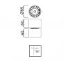спот лампа C0085 LED COB 85*60mm 12W/3000K Alu/White