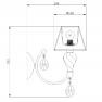 аплик RC855-WL-01-R (ARM855-01-R)