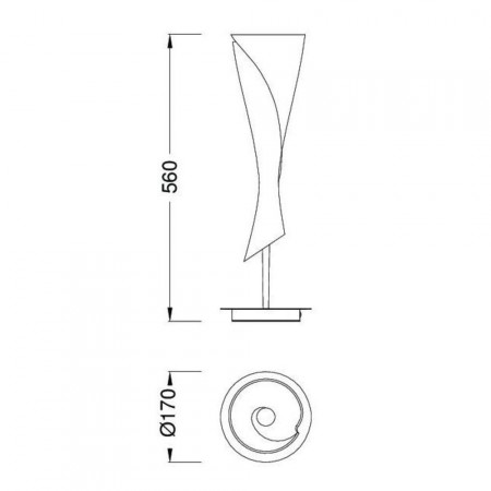 настолна лампа 0774 satin nickel 1x20W E14 (not incl.)