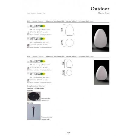 настолна лампа, лампион / правостояща лампа, външна лампа @1385 IP 65 / OUTDOOT - NO SWITCH 1 x max E27 13W