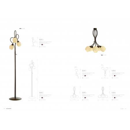 лампион / правостояща лампа @1512 MIKI III podlogowa