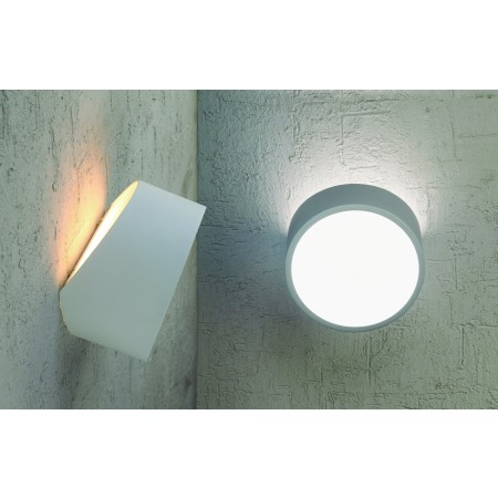 5480 WALL 2L ROUND WHITE 2xLED G9 5W (No Inc)