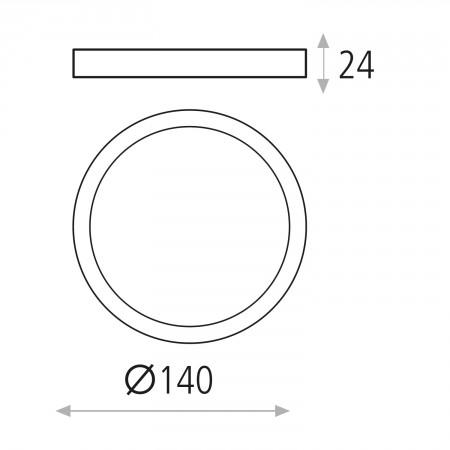 P343520B (3435/14 12W/3000K White IP20)
