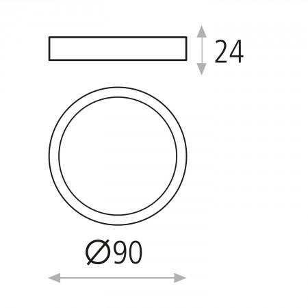 P343510B (3435/9 6W/3000K White IP20)