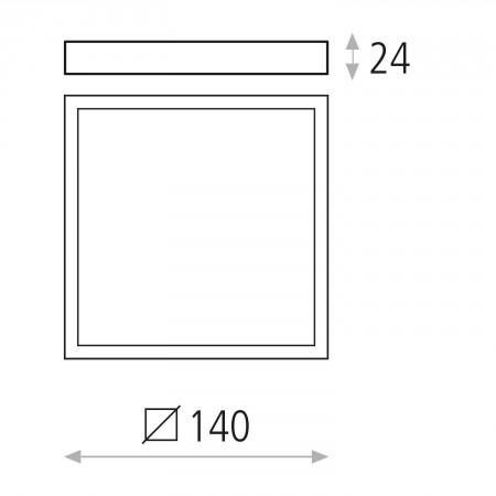 P343620B (3436/14 12W/3000K White IP20)