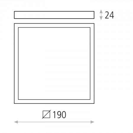 плафон, аплик P343630B (3436/19 18W/3000K White IP20)