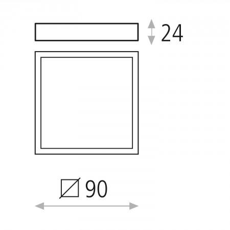P343610B (3436/9 6W/3000K White IP20)