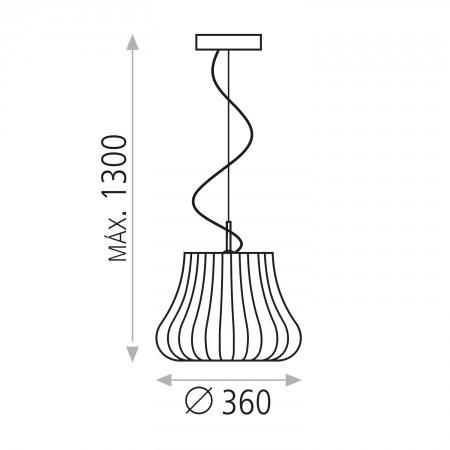C34560MA (3456/36 E27 1x20W Brown-Nickel Pendant)