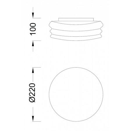 плафон, аплик ^3625 Ceiling/Wall/2 SMALL 2xG9 8W