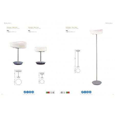 лампион / правостояща лампа ^3628 FLOOR LAMP CHROME 2x20W E27 (No inc.)