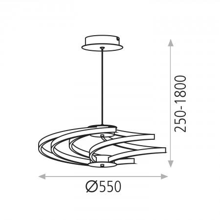 C368170C (3681/57 40W/3200K Silver/Chrom Pendant)