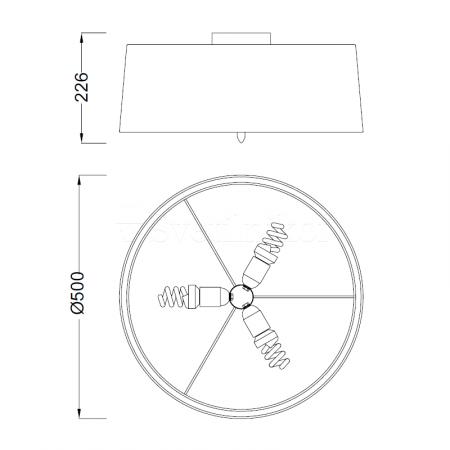 3705 SATIN+WHITE SHADE 3x20W E27 (No inc.)