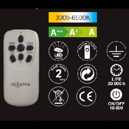 3692 Dimm WHITE LED 60W/3000-6500K 4500 LMS