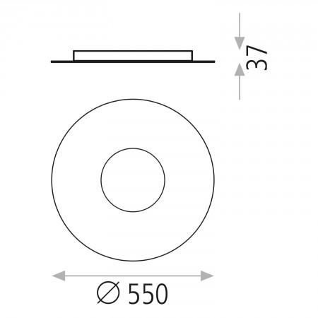 P377310NDT (3773/50 26W/3000K Black Ceiling Dim Tr
