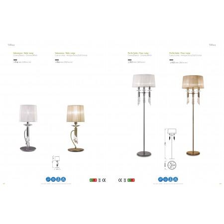 лампион / правостояща лампа 3869 CHROME 3x20W E27 or 3x5W G9