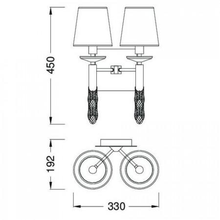 3883 ANTIQUE BRASS 2x20W E14 or 2x5W G9