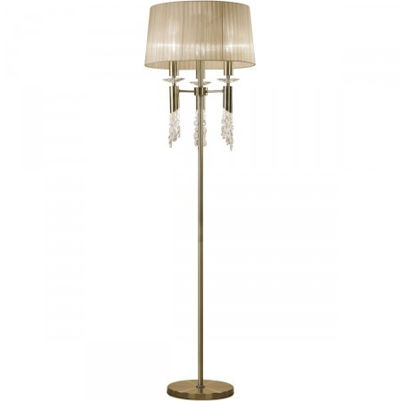 лампион / правостояща лампа 3889 ANTIQUE BRASS 3x20W E27 or 3x5W G9