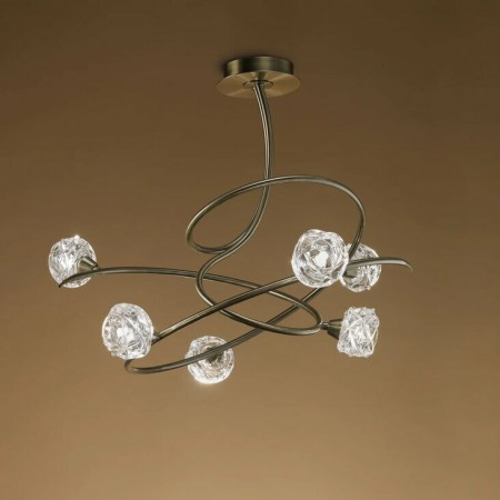 4071 ANTIQUE BRASS 6x2.5W LED G9 (incl)