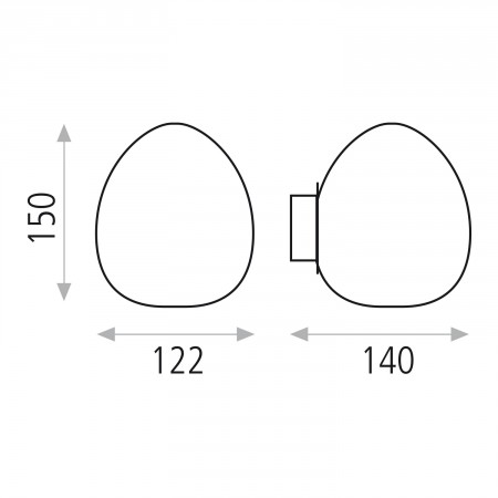 R492B1C (4092/B1 G9 1x28W Chrom IP44)