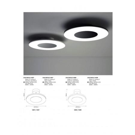 плафон ^4488 BLACK  LED 20W/3000K