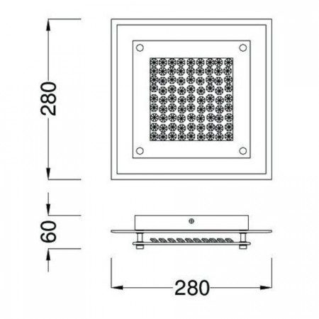 плафон 4580 Chrom Mirror Small 28cm LED 12W/4000K
