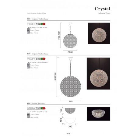 полилей ^4603 PENDAT 9L BALL CRYSTAL 9x43W G9 (No incl)