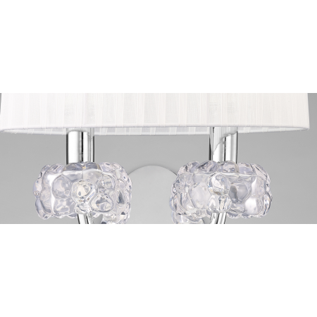 4634 Wall Lamp 2L Chrome/White Shade 2x13W E14