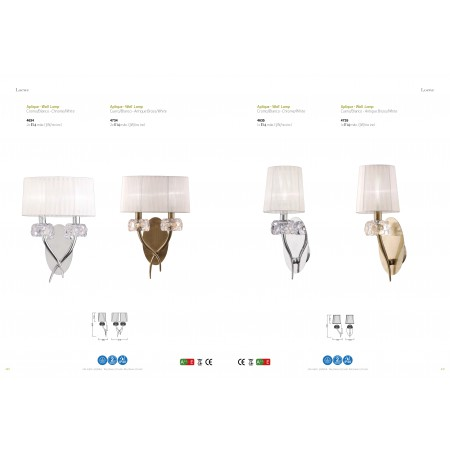 4635 Wall Lamp 1L Chrome/White Shade 1x13W E14