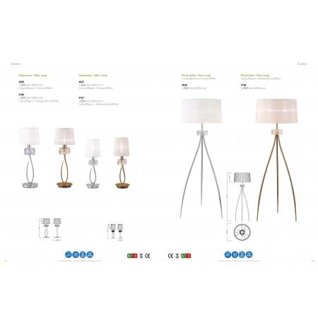 настолна лампа 4637 TL1 Small Chrom/White Shade 1x13W E14