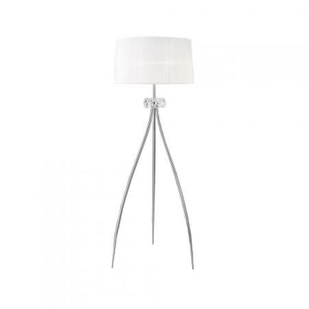 4638 Floor Lamp 3L Chrom/White Shade 3x13W E27