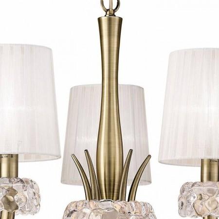 полилей 4731 Pend 6L Antique/Brass/White Shade 5x13W E14