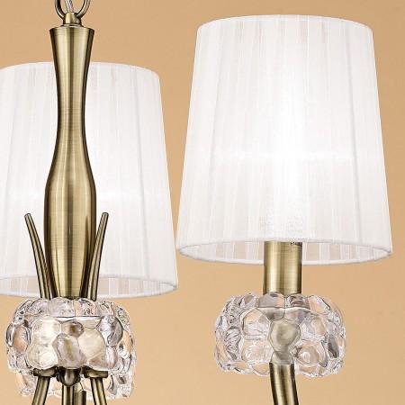 4733 Pend 3L Antique/Brass/White Shade 3x13W E14