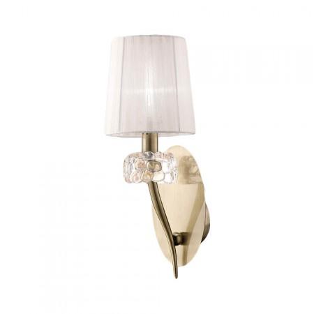 4735 Wall 1L Antique Brass/White Shade 1x13W E14