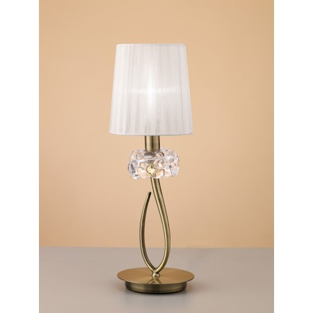 4737 TL1 SMALL Antique Brass/White Shade 1x13W E14