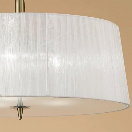 4739 Pend 3L Antique/Brass/ White Shade 3x13W E27