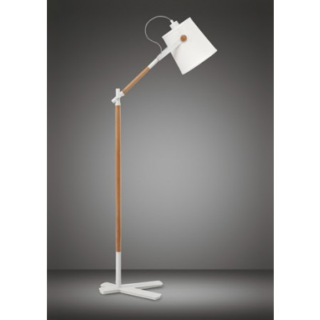 4920 Floor Lamp WHITE/SHADE 1x23W E27 (No inc.)