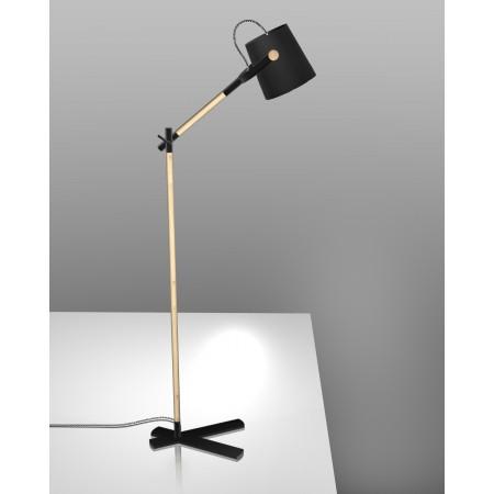 4921 Floor Lamp BLACK/SHADE 1x23W E27 (No inc.)