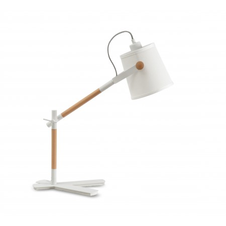 4922 Table Lamp WHITE/SHADE 1x23W E27 (No inc.)