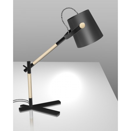 4923 Table Lamp BLACK/SHADE 1x23W E27 (No inc.)