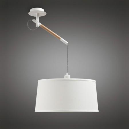 4928 Pendant white/wood E27 1x23W